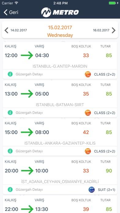Screenshot for Metro Turizm–Otobüs Bileti Al in Turkey App Store