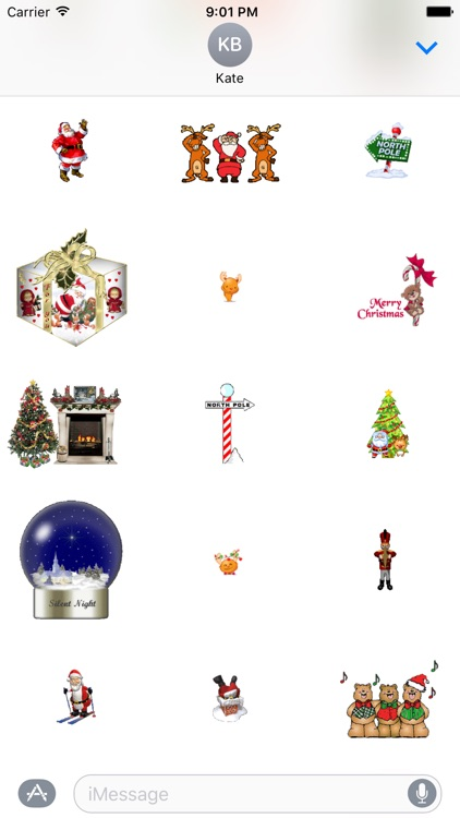 Animated Christmas Stickers for iMessage screenshot-3