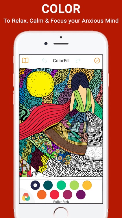 ColorSip Calm Relax Focus Coloring Book for Adults