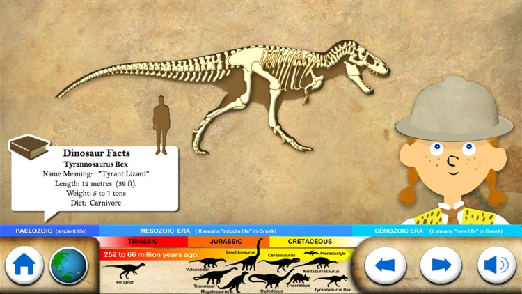 Dinosaur Fossils - History for kids screenshot-0