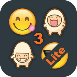 Emoji 3 Emoticons for LINE, Kik, WeChat, Twitter, BBM, Zoosk & Facebook Messenger - Free Emoji Keyboard with Pop Emojis & Emoticon icons Animation Emoji - Lite Version