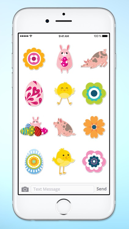 Easter Eggs and Animal Sticker Pack screenshot-3