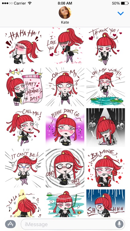 Aiko the Love Ninja stickers screenshot-3