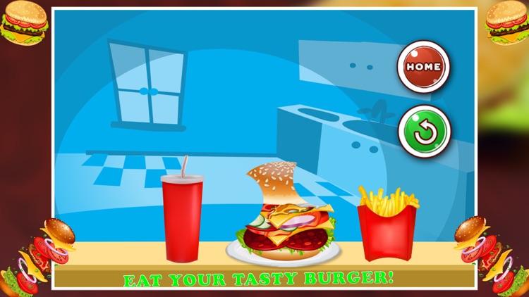 Burger Maker Cooking Game: Fast Food screenshot-3