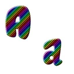 Alphabet Three Sticker Pack