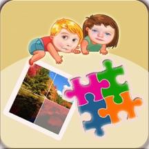 儿童益智早教拼图游戏大全-幼儿拼自然风景
