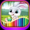Easter Eggstravaganza and Rabbit coloring for kids