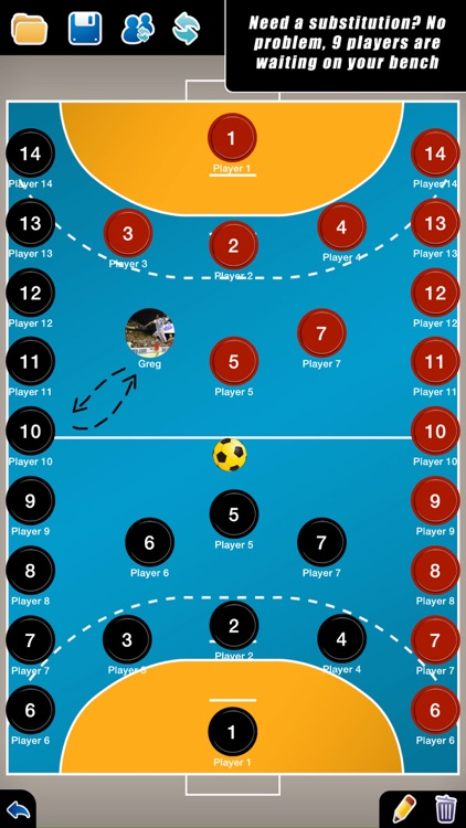 Coach Tactical Board for Handball