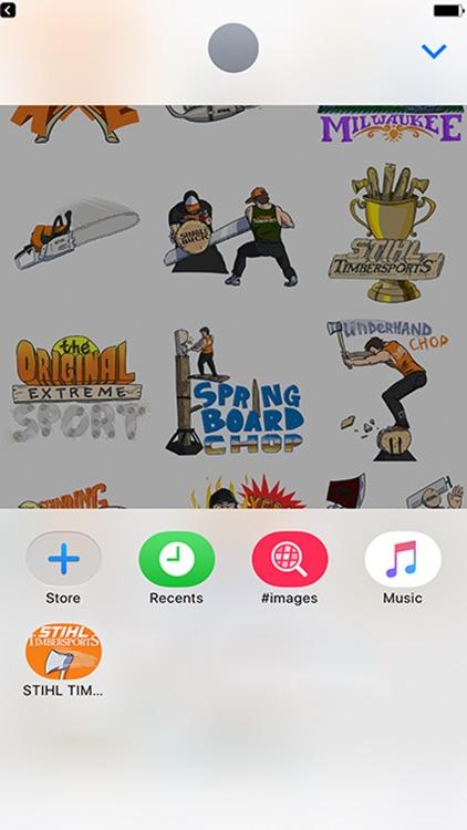 STIHL TIMBERSPORTS Stickers screenshot-4