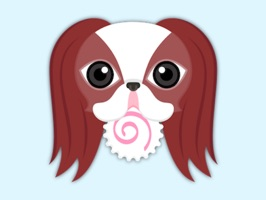 Red Sable Japanese Chin Stickers for iMessage