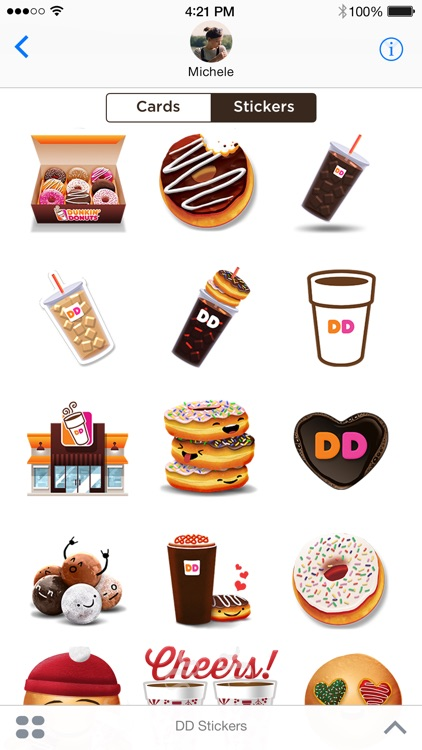 Dunkin' Donuts Stickers & Cards screenshot-1