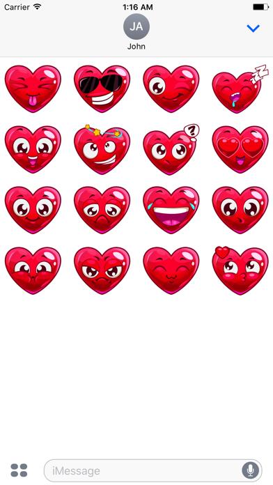 Valentine's Hearts sticker pack screenshot two