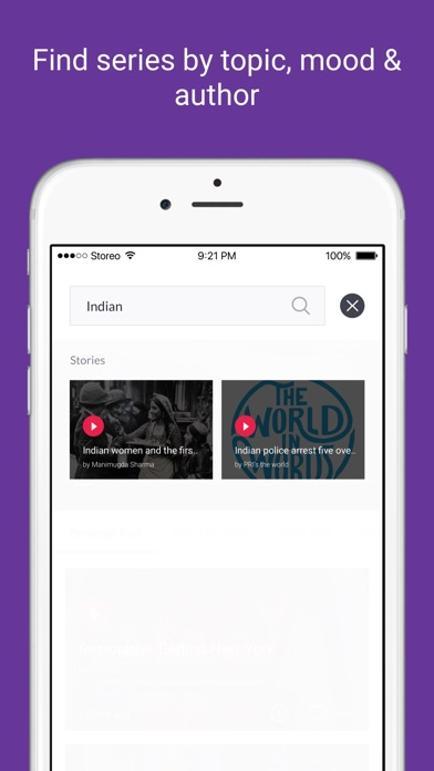 Storeo - The home of Indian Audio Shows app image