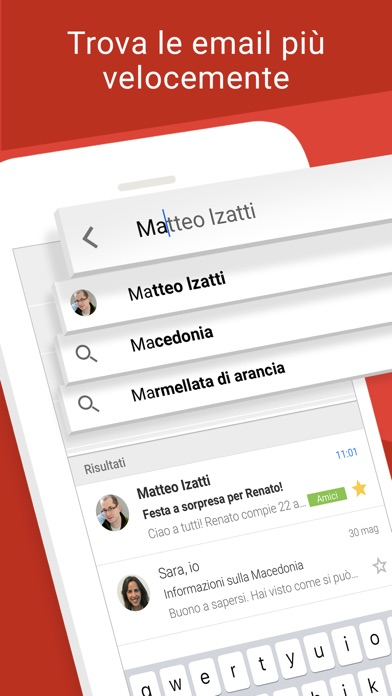 Screenshot for Gmail - l'email di Google in Italy App Store