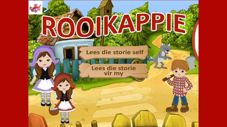 Rooikappie kinderstorie in afrikaans screenshot-0