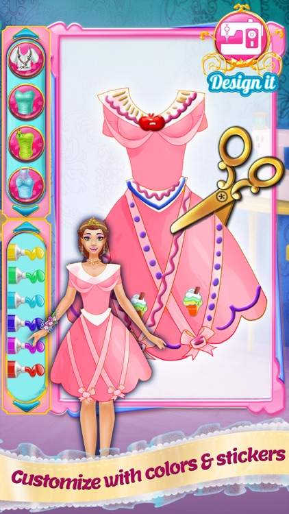 Design It! Princess Fashion Makeover: Outfit Maker