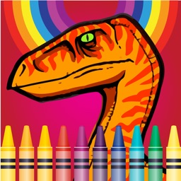 Dinosaurs Village coloring page for boys