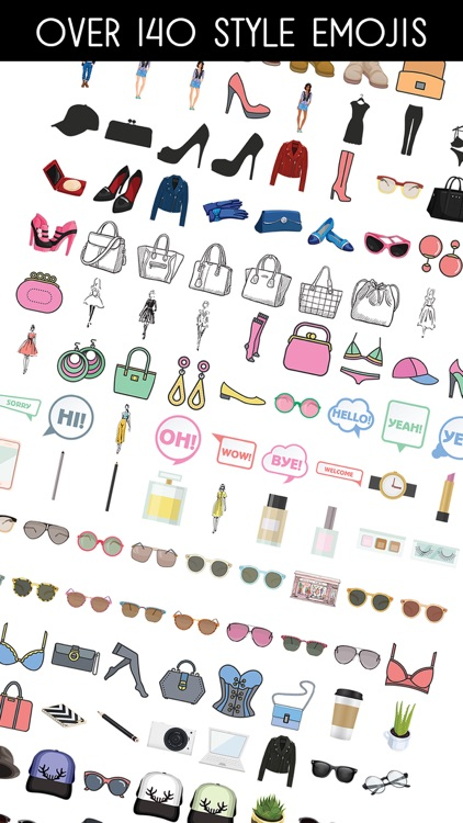STYLEJI - Fashion Beauty Emoji Stickers