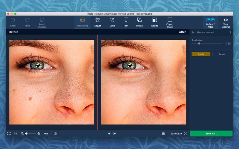 Photo Retouch Movavi: Easy Portrait Editing Screenshots
