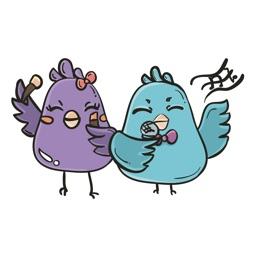 The Birds - Mr & Mrs Bird Stickers