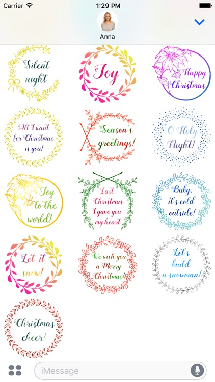 Christmas Wishes - Watercolor Messages
