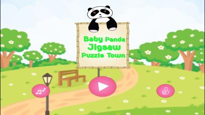 Baby Panda Jigsaw Puzzle Town screenshot 3