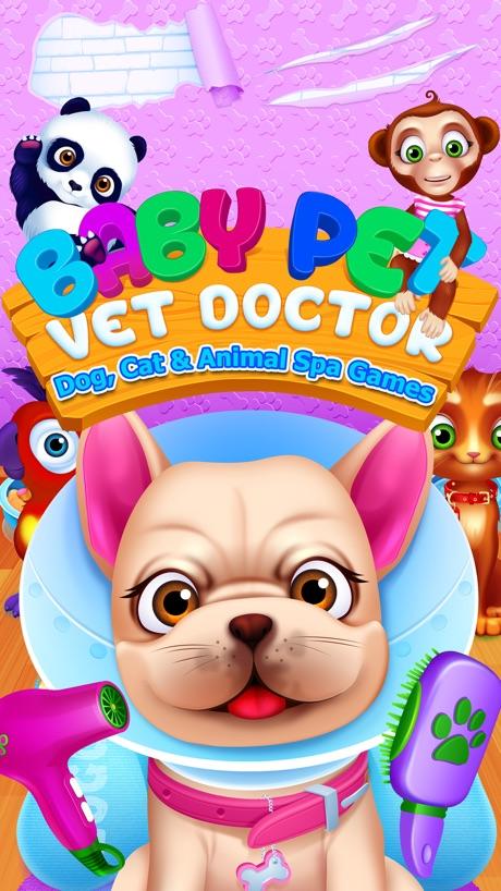 Baby Pet Vet Doctor – Dog, Cat & Animal Spa Games