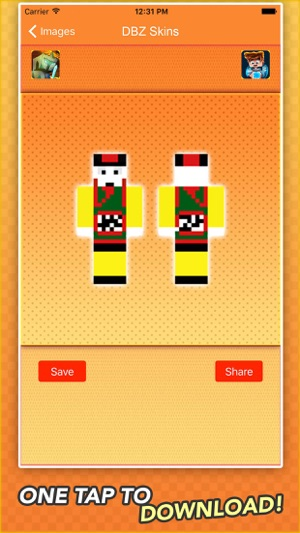 Super Skins For Dragon Ball Z Fans For Minecraft On The App Store - Skins para minecraft pe de goku