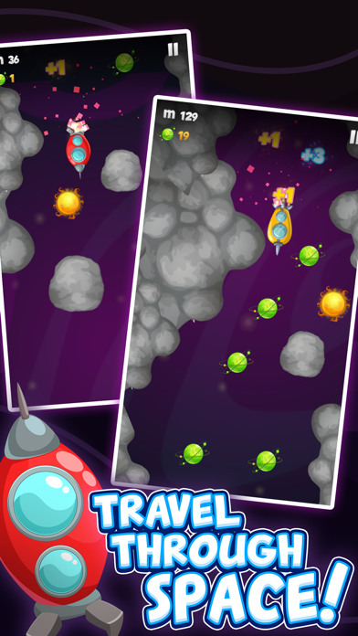 Space Wars Adventure - Collect Stars Avoid Monster screenshot two