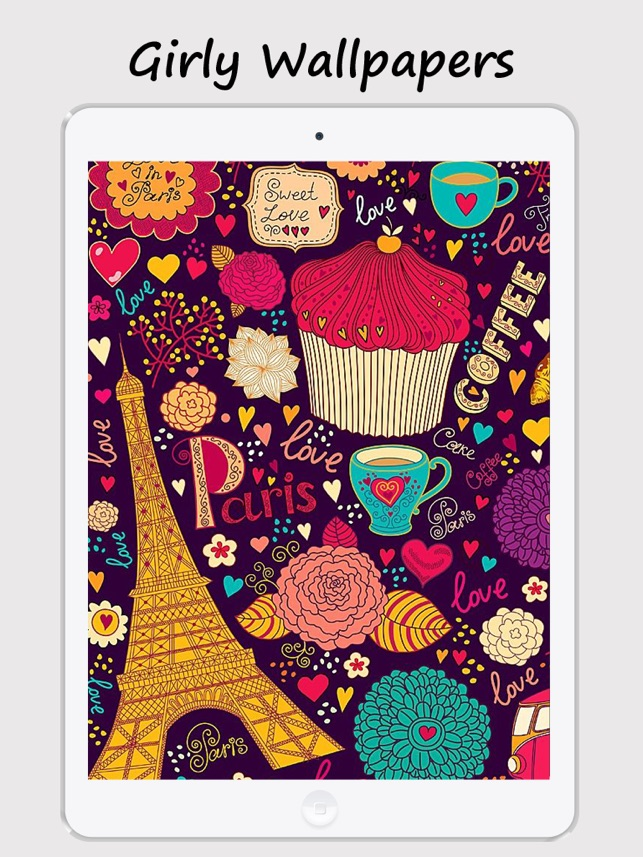 Girly Walls Cute Girl Image For Home Lock Screen On The App Store