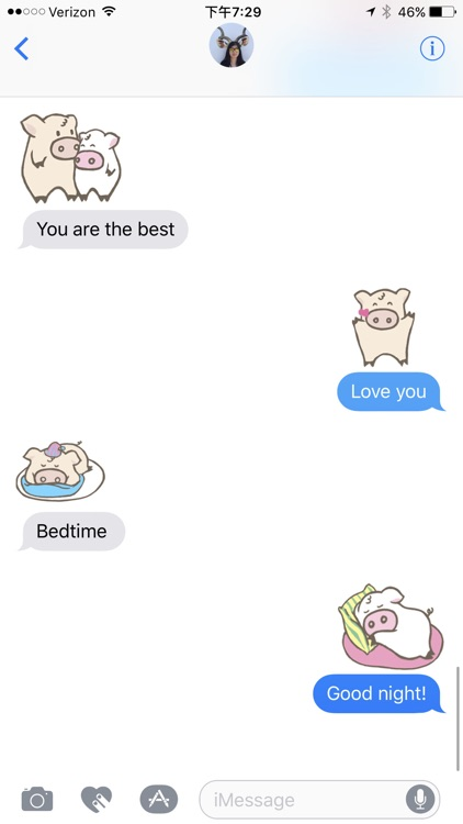 Toto Pig - Adorable Piggy Couple Animated Stickers screenshot-3