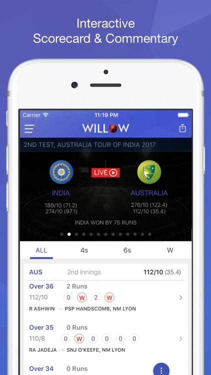 Willow - Watch Live Cricket screenshot-4