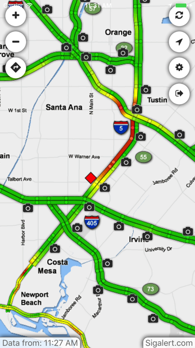 Sigalert.com - Live traffic reports Screenshot