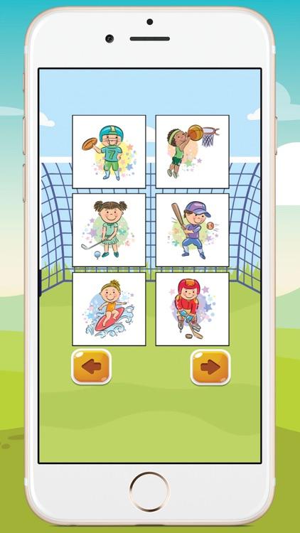 Kids Sport Coloring Book screenshot-4