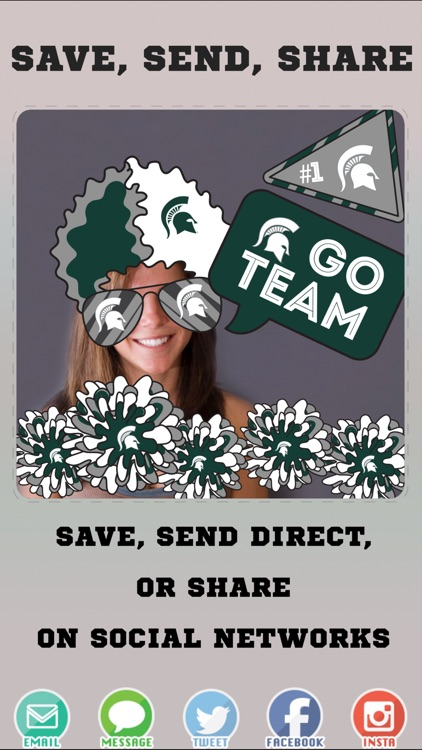 Michigan State Spartans Pro Photo Booth Stickers screenshot-3
