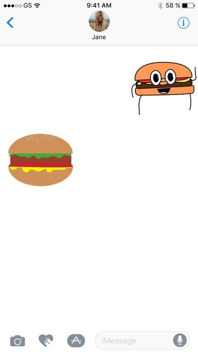 漢堡兩個貼紙包屏幕截圖3