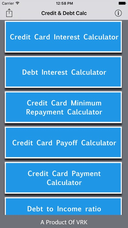 Credit & Debt Calc