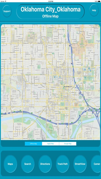 Oklahoma City Ok Offline City Maps with Navigation