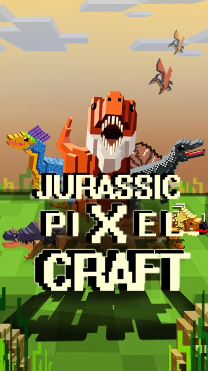Jurassic Pixel Craft : Block dinosaur world games screenshot-0