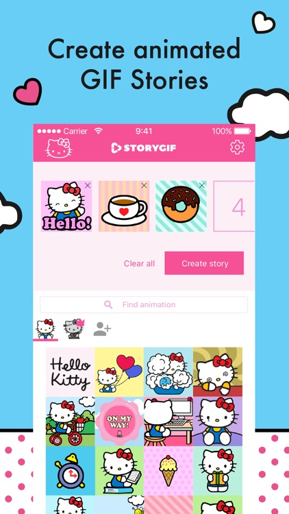 Hello Kitty StoryGIF: Valentines GIF & Story Maker