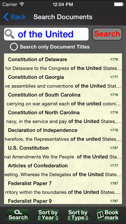 US Historical Documents screenshot-2