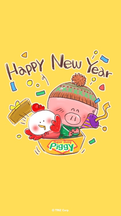 Super busy piggy : new year's winter story