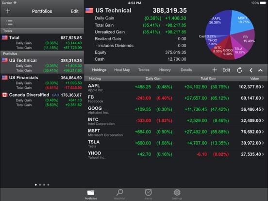Portfolio Trader-Stock Tracker Скриншоты9