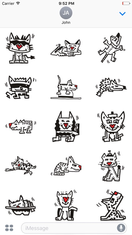 Cat-alog by Herman - Funny Pop Art Stickers
