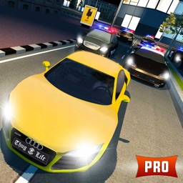 Police Car Chase 3D PRO: Night Mode Escape Racing