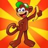 monkey king kong run in jungle - 猴子 王 跳跳 香蕉猴 森林 游戏