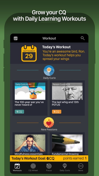 Curious - the game of lifelong learning app image