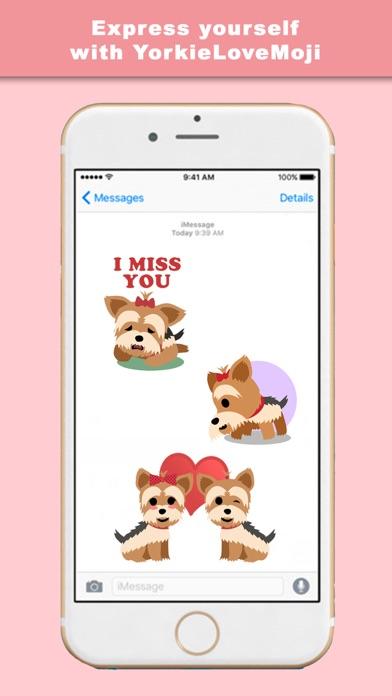 YorkieLoveMoji - Stickers & Keyboard for Yorkies screenshot four