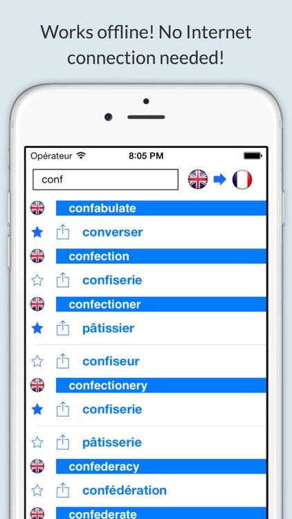 Offline English French Dictionary (Dictionnaire)