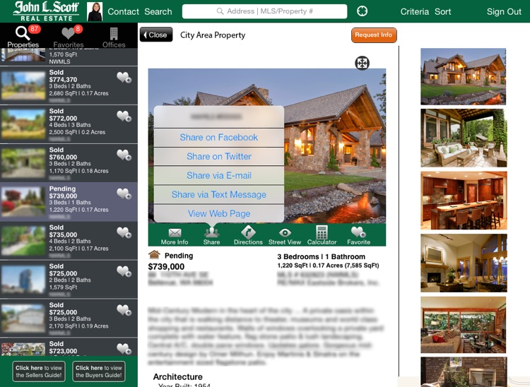 John L. Scott Home Search iPad